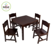 Farmhouse Table And Four Chair Set - Espresso