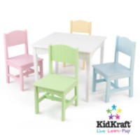 Table et 4 chaises Nantucket - Pastel