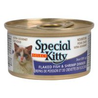 Special Kitty select Ultra Gourmet Cat Food - Flaked fish and Shrimp Dinner, 85 g