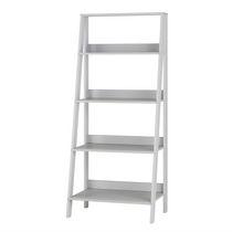 Manor Park 4 Shelf Simple Modern Wood Ladder Bookcase