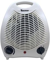 Tooltech® 750-1500-Watt Compact Fan Heater with Adjustable Thermostat