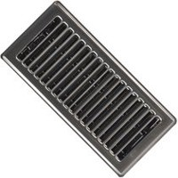 "Imperial 4"" x 10"" Floor Register, Pewter - Pack of 2"
