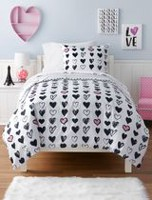 Mainstays Kids Heart Duvet Cover Set Twin
