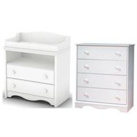 South Shore Heavenly Baby Bedroom Set White