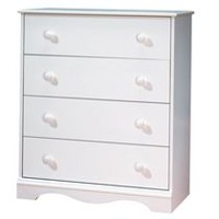 South Shore Heavenly Collection 4-Drawer Chest White