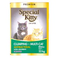 Premium Special Kitty Clumping Multi-Cat Antibacterial Scented Cat Litter