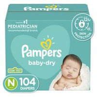 Pampers Baby Dry Diapers Super Pack Newborn