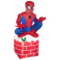 Spider-Man 4.5' Inflatable on Chimney