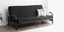 Mainstays Black Metal Frame Futon with 6-inch Mattress
