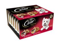 Cesar Dog Food Home Delights 12 pack Lasagna and Stroganoff