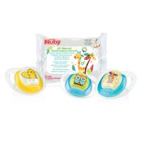 Nûby 3pk Comfort Orthodontic Pacifiers 6M+ with 12 Paci-wipes