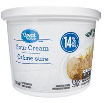 Great Value 14% M.F Sour Cream