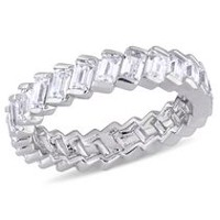 Miabella 2.75 Carat T.G.W. Baguette-Cut Cubic Zirconia Sterling Silver Anniversary Eternity Ring 6