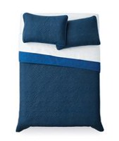 Mainstays Blue Quilt Set Double/Queen