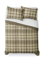 Mainstays Tan Plaid Comforter Set Twin