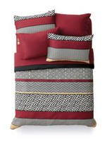 Mainstays Greek Key Bed in a Bag Set Red Double