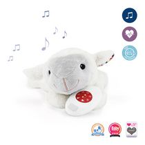 Zazu Liz Comforter with Heartbeat Sound Activated Plush Toy