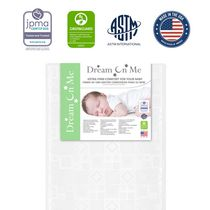"Dream On Me Breathable 5"" Foam Crib & Toddler Bed  Standard Mattress"