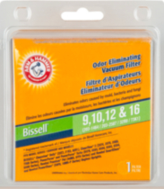 Arm & Hammer Vacuum Filter Upright Bissell 9,10,12, 16
