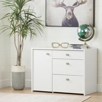 South Shore Interface Storage Unit with File Drawer White