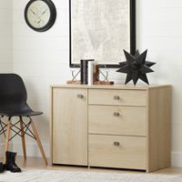 South Shore Interface Storage Unit with File Drawer Natural Maple