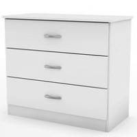 South Shore Smart Basics 3-Drawer Chest, White