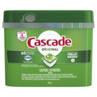 Cascade ActionPacs Dishwasher Detergent, Original Scent, 60 Count