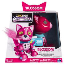 Zoomer Meowzies Sounds and Sensors Blossom Interactive Kitten Set with Lights