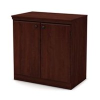 South Shore Morgan Small 2-Door Storage Cabinet Royal Cherry