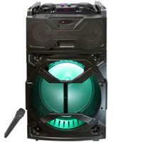 "Top Tech Audio Fully Amplified Portable 2000 Watts Peak Power 12"" Speaker with LED Light"