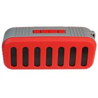 Top Tech Audio Portable Bluetooth Speaker with FM/USB/Micro-SD - Red