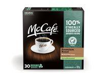 McCafé® Torréfaction supérieure déca capsules K-Cup® recyclables, torréfaction foncée, 30 unités pour cafetière une tasse à la fois de Keurig®
