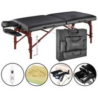 "Master 31"" Montclair ThermaTop Black Portable Massage Table"