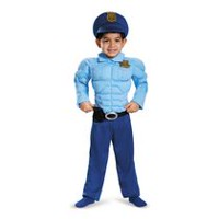 Disguise Police Muscle Toddler Boys' Costume