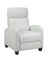 Brassex White Push Back Recliner - 8628WH