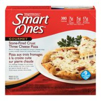 Smart Ones Stone-Fired Crust Three Cheese Pizza