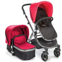 Babyroues Letour II Infant-to-Toddler Bassinet & Stroller System Red/Silver