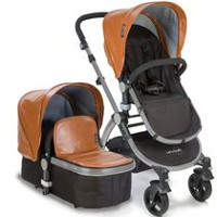 Babyroues Letour Lux II Infant-to-Toddler Bassinet & Stroller System Camel/Silver