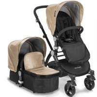 Babyroues Letour Lux II Infant-to-Toddler Bassinet & Stroller System Tan/Black