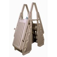 Vinyl Works Neptune A-Frame Entry System for Above Ground Pools - Taupe