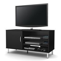 South Shore Renta TV Stand with door, Black