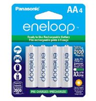 Panasonic eneloop AA Ni-MH Pre-Charged Rechargeable Batteries - 4 Pack