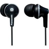Panasonic RPHJE125 Noise Isolating Ergofit Earbuds Black