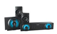 Sharper Image SBT3009 Bluetooth Home Theater 3.1 Sound System With Subwoofer