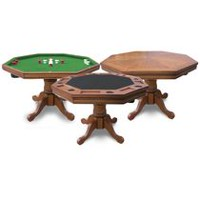 Kingston 3-in-1 Poker Table Walnut