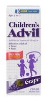 Children's Advil Dye Free Grape 230ML