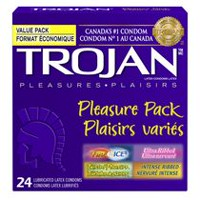 TROJAN Pleasure Pack Premium Lubricated Condoms Value Pack