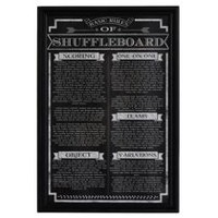 Hathaway Shuffleboard Game Rules Wall Art