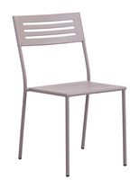 Zuo Modern Outdoor 2-Piece Electro & Powder Coated Metal Taupe Wald Dining Chair