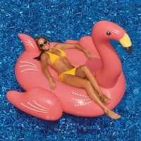 Swimline Giant Pink Flamingo 78-inch Inflatable Ride-On Pool Toy